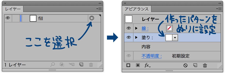 レイヤー全体にアピアランスを適用する方法の図版