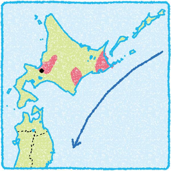 地図の形をアピアランスで省略した図版