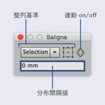 Saligna整列・分布パネル配置図