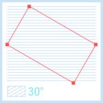 【解決】最初から斜めの斜線パターンを作りたい!