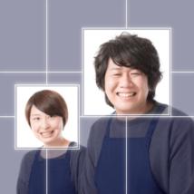 顔矩形認識変形切抜スクリプト アイキャッチ