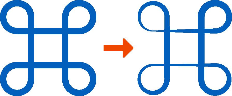 線幅プロファイル適用前後 図版