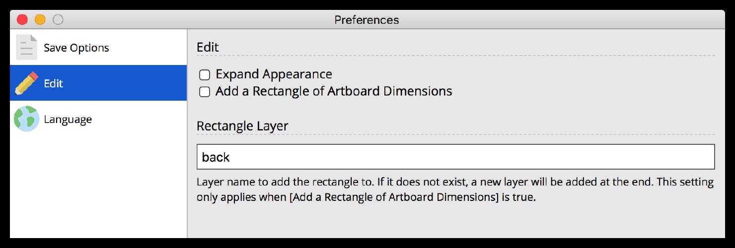 Edit Preferences image
