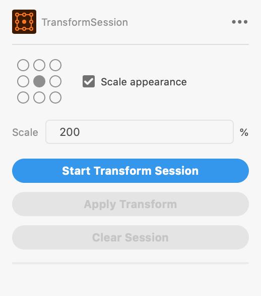 TransformSession パネルの見た目 画像
