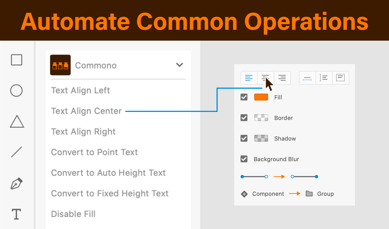 XD一般的操作自動化プラグイン 画面・動作イメージ図版